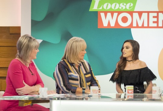 EDITORIAL USE ONLY. NO MERCHANDISING. IN US EXCLUSIVE RATES APPLY Mandatory Credit: Photo by Ken McKay/ITV/REX/Shutterstock (5898007ad) Ruth Langsford, Linda Robson, Cher Lloyd 'Loose Women' TV show, London, UK - 15 Sep 2016