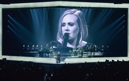 NEW YORK, NY - SEPTEMBER 19: Singer Adele performs onstage at Madison Square Garden on September 19, 2016 in New York City. (Photo by Kevin Mazur/Getty Images for BT PR)