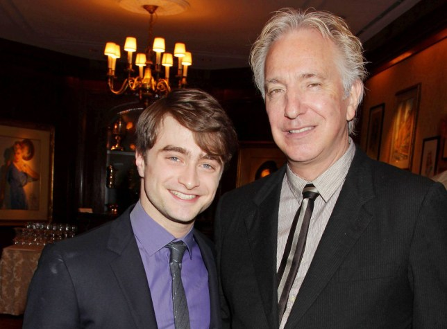 Mandatory Credit: Photo by Dave Allocca/StarPix/REX/Shutterstock (5631046b)nDaniel Radcliffe and Alan RickmannSpecial Luncheon in Honor of Harry Potter and the Deathly Hallows Part 2, New York, America - 21 Nov 2011nn