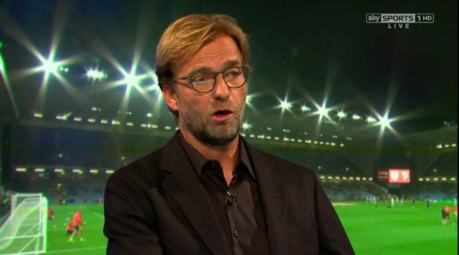 ****Ruckas Videograbs**** (01322) 861777 *IMPORTANT* Please credit Sky Sports for this picture. 26/09/16 MNF - Burnley v Watford Jurgen Klopp appears on the panel with Jamie Carragher on MNF Office (UK) : 01322 861777 Mobile (UK) : 07742 164 106 **IMPORTANT - PLEASE READ** The video grabs supplied by Ruckas Pictures always remain the copyright of the programme makers, we provide a service to purely capture and supply the images to the client, securing the copyright of the images will always remain the responsibility of the publisher at all times. Standard terms, conditions & minimum fees apply to our videograbs unless varied by agreement prior to publication.