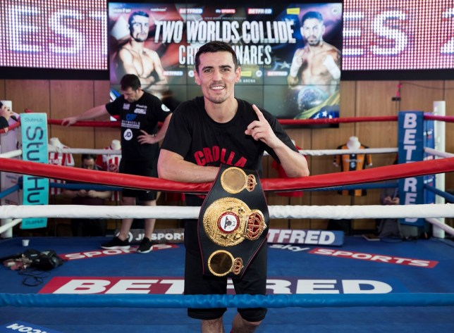 Crolla at the open workout on Tuesday (Picture: Mark Robinson)