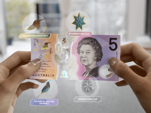 Australia's new bank note is like something from a sci-fi movie