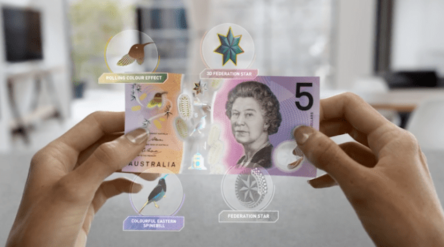 The new Australian bank note was launched yesterday (Picture: Reserve Bank of Australia)