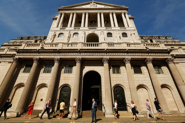 pic - getty Pedestrians walk past the Bank of England (BOE) in the City of London, U.K., on Tuesday, Sept. 13, 2016. BOE officials announce their next interest rate decision on Thursday, when they are forecast to keep policy unchanged as they assess the outlook for the economy since the Brexit vote. Photographer: Luke MacGregor/Bloomberg via Getty Images