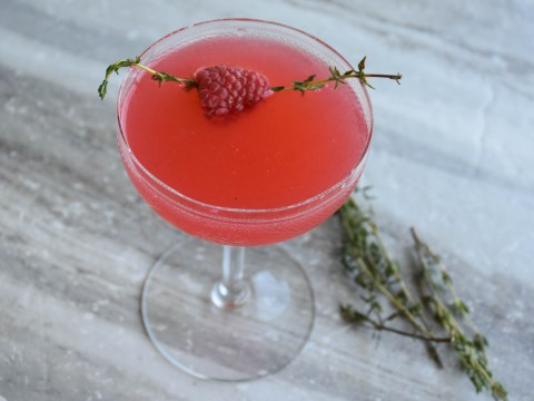 Gin cocktail recipe video: How to make Thyme For Raspberry Gin