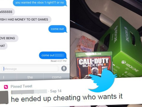 Girl advertises gifts she'd bought for her boyfriend after finding out he'd cheated on her