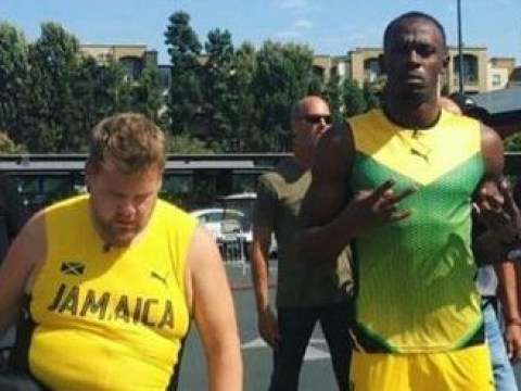 WATCH: See what happened when James Corden challenged Usain Bolt to a 100 metre race