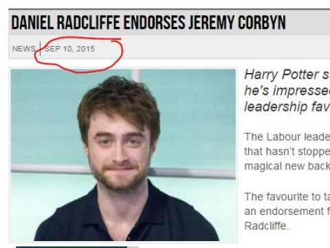 People think Daniel Radcliffe has re-endorsed Jeremy Corbyn after JK Rowling's criticism