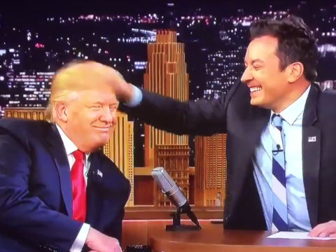 Viewers furious with Jimmy Fallon for chummy Donald Trump interview in which he messed up his hair
