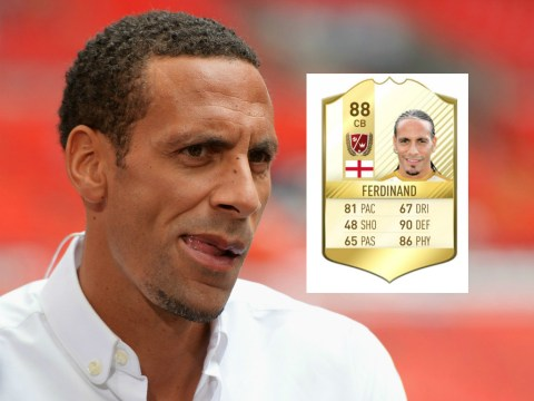 Manchester United legend Rio Ferdinand is not happy with his FIFA 17 ratings
