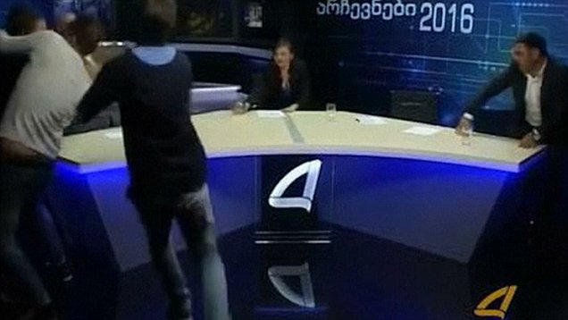 Live TV debate gets violent as politicians throw punches