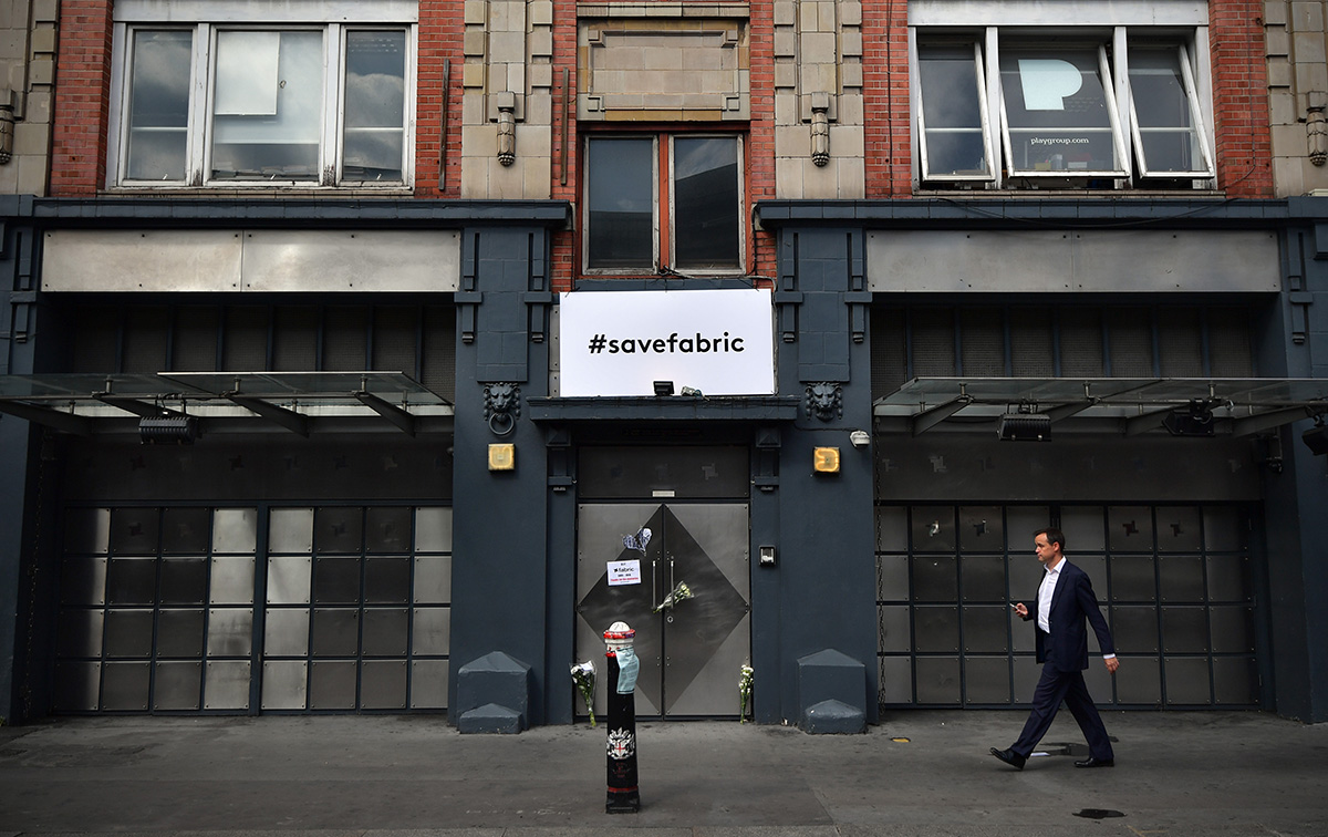 A man walks past Fabric nightclub following the announcement of its closure (Picture: Getty)