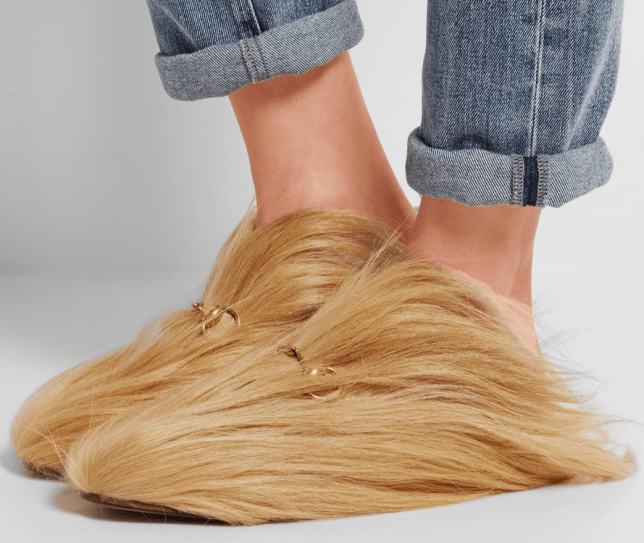 151cd6fa387b Gucci have released £1367 slippers made out of hair and no one gets ...