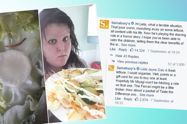 Sainsburys have most brilliant response to woman who said their lettuce made her 'fat'