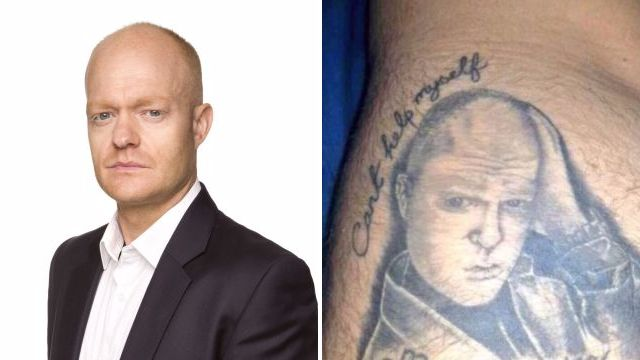 Jake Wood loves this tattoo of him someone had put on their bum