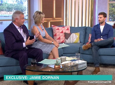 WATCH: Eamonn Holmes wasn't happy with Jamie Dornan on This Morning