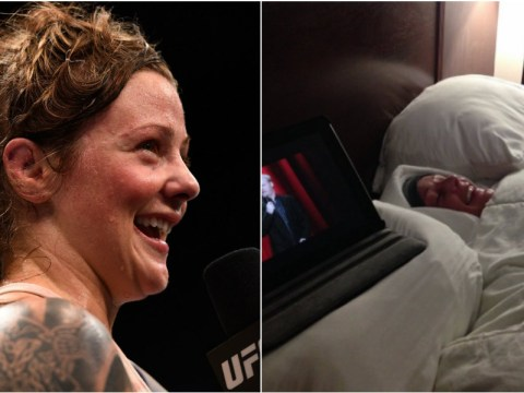 Strawweight contender Joanne Calderwood adds some laughter to her weight cutting ahead of UFC 203