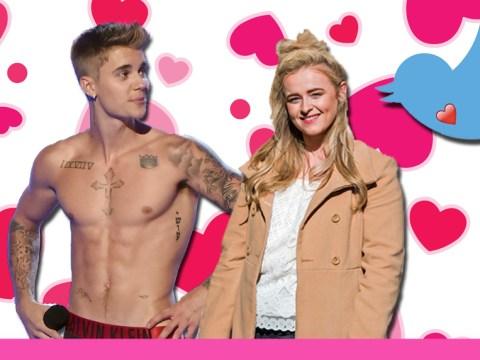 X Factor Caitlyn Vanbeck had a steamy Twitter exchange with Justin Bieber