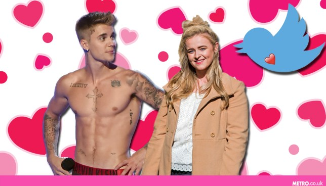 X Factor Caitlyn's had a flirty exchange with Justin Bieber on Twitter (Picture: Alamy/Getty Images)