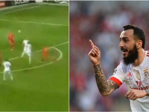 Former Fulham striker Konstantinos Mitroglou scores insane volley for Greece in World Cup qualifier