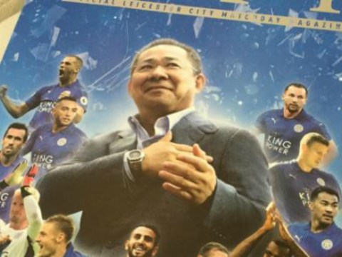 Leicester City chairman puts himself on matchday programme instead of manager Claudio Ranieri
