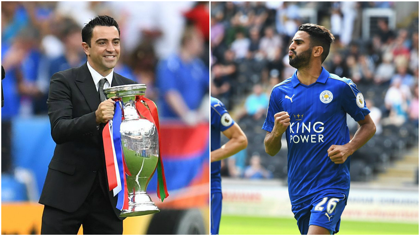 Barcelona legend Xavi would like to see Leicester City's Riyad Mahrez sign for the Catalan side
