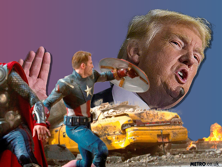 Avengers assemble against Donald Trump (and to get Mark Ruffalo naked)