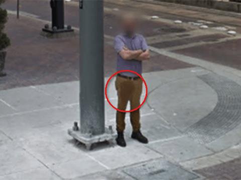 Man caught on Google Street View looking like he has wet himself