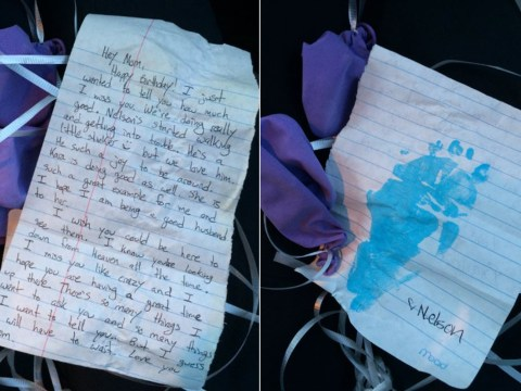 Girl finds a father's heartwrenching note to his late mother tied to balloons in a tree