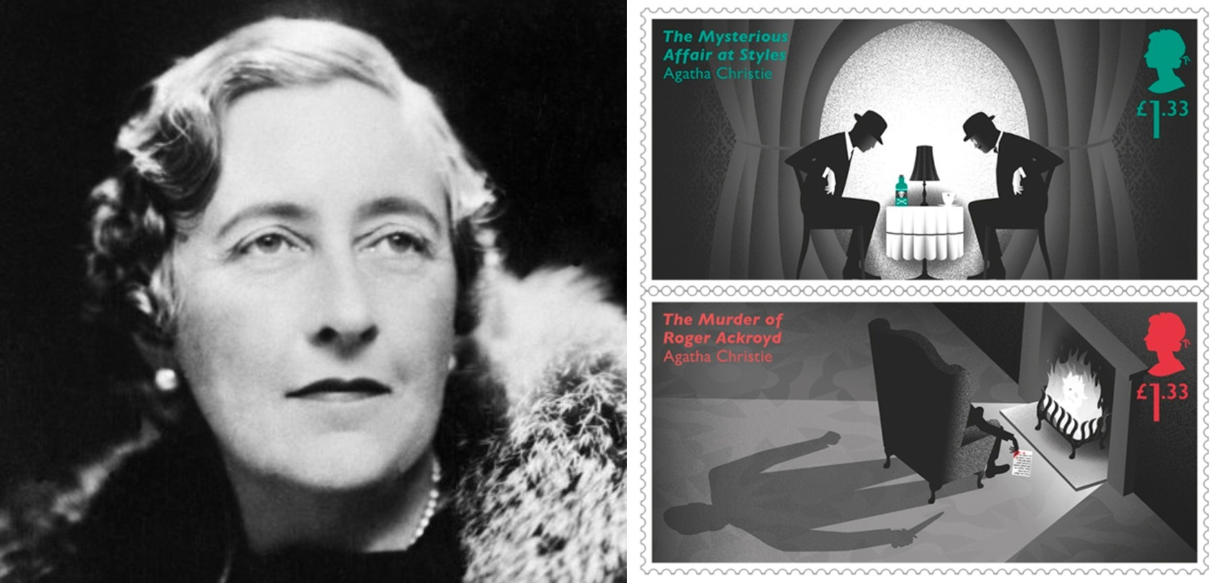 Can you spot the clues hiding in Royal Mail's new killer stamps to mark 100 years since Agatha Christie wrote her first novel?