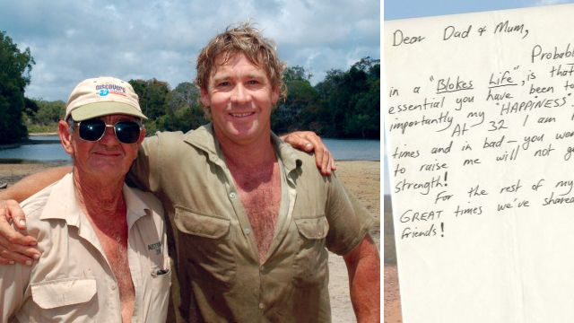 Steve Irwin's moving letter to his parents found years after his death