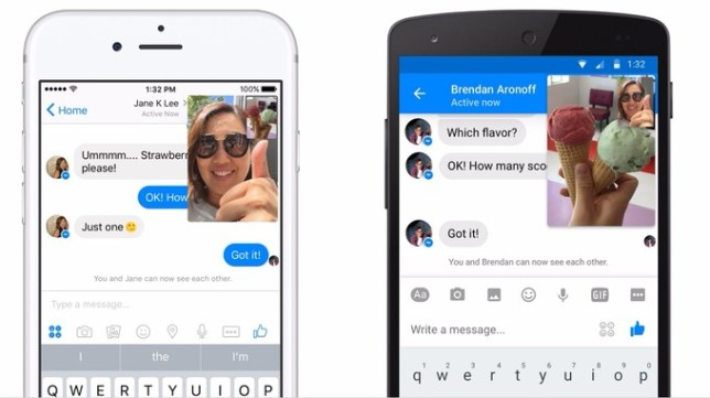 Facebook Messenger launches video chat that lets you text at the