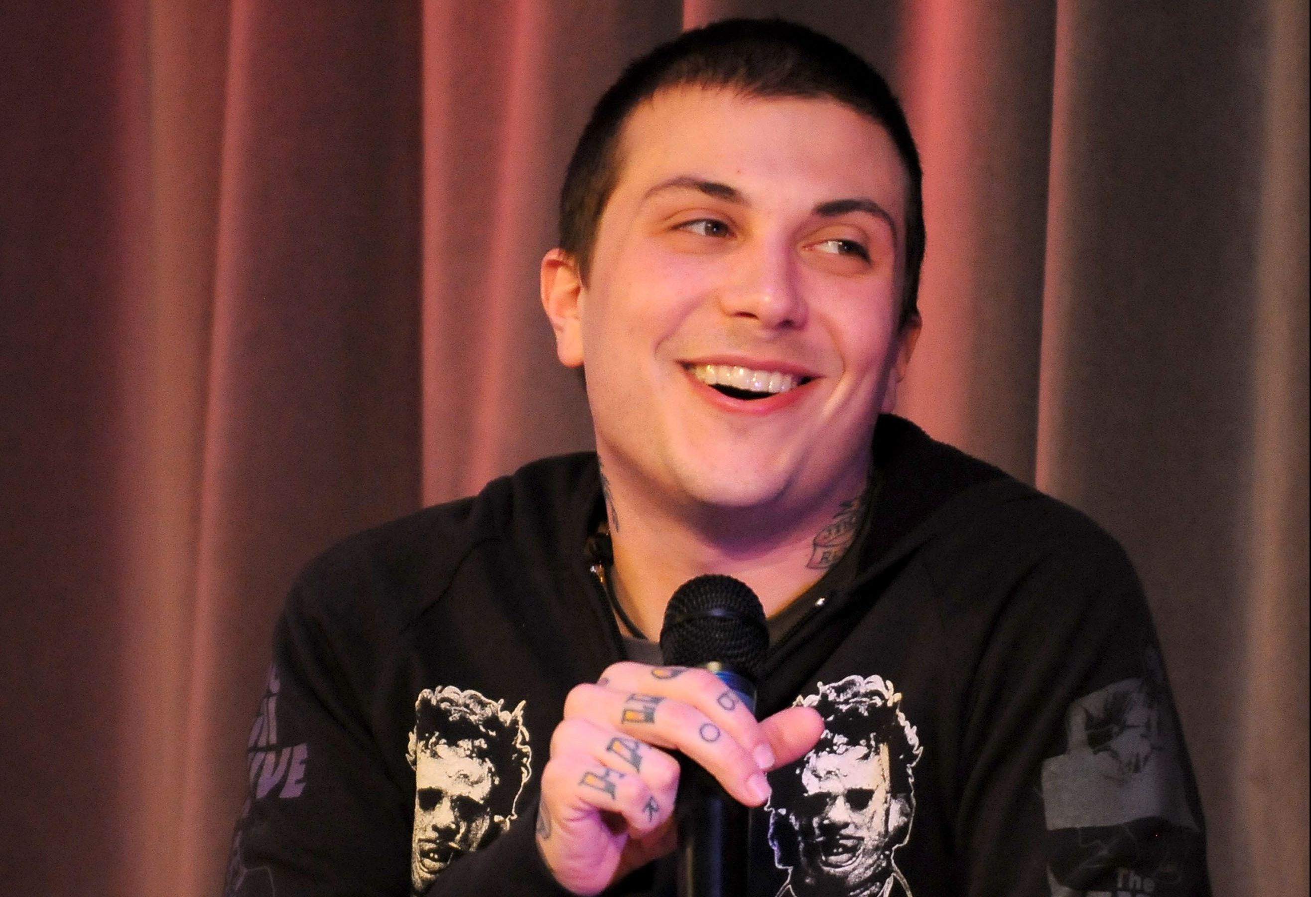 Frank Iero, formerly of My Chemical Romance, is ok following a traffic accident (Picture: Mark Sullivan/WireImage)