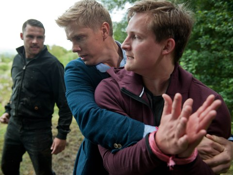 Emmerdale spoilers: Will someone die as Aaron Dingle, Robert Sugden and Lachlan White face a clifftop showdown tonight?