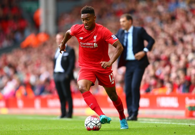 LIVERPOOL, ENGLAND - AUGUST 29: Joe Gomez of Liverpool in aciton during the Barclays Premier League match between Liverpool and West Ham United at Anfield on August 29, 2015 in Liverpool, England. (Photo by Clive Mason/Getty Images)
