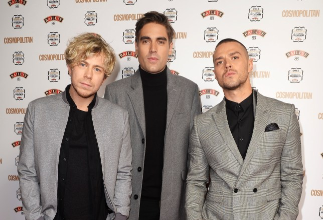 LONDON, ENGLAND - DECEMBER 02: (L-R) Charlie Simpson, James Bourne and Matt Willis of Busted attend the Cosmopolitan Ultimate Women Of The Year Awards at One Mayfair on December 2, 2015 in London, England. (Photo by Dave J Hogan/Dave J Hogan/Getty Images)
