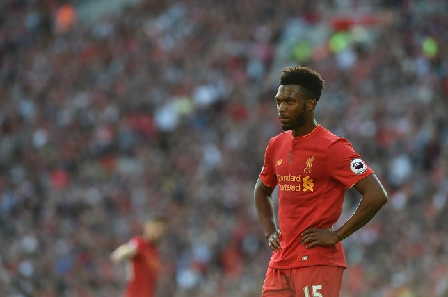 LIVERPOOL, ENGLAND - SEPTEMBER 10: (THE SUN OUT, THE SUN ON SUNDAY OUT) Daniel Sturridge of Liverpool during the Premier League match between Liverpool and Leicester City at Anfield on September 10, 2016 in Liverpool, England. (Photo by Andrew Powell/Liverpool FC via Getty Images)