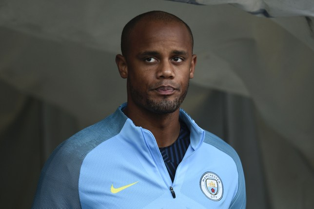 Manchester City's Belgian defender Vincent Kompany comes down the players tunnel before kick off of the English Premier League football match between Manchester City and Bournemouth at the Etihad Stadium in Manchester, north west England, on September 17, 2016. / AFP / OLI SCARFF / RESTRICTED TO EDITORIAL USE. No use with unauthorized audio, video, data, fixture lists, club/league logos or 'live' services. Online in-match use limited to 75 images, no video emulation. No use in betting, games or single club/league/player publications. / (Photo credit should read OLI SCARFF/AFP/Getty Images)