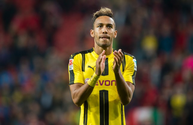 LEVERKUSEN, GERMANY - OCTOBER 01: Pierre-Emerick Aubameyang of Borussia Dortmund leaves the pitch disappointed after the final whistle of the Bundesliga match between Bayer 04 Leverkusen and Borussia Dortmund at BayArena on October 1, 2016 in Leverkusen, Germany. (Photo by Alexandre Simoes/Borussia Dortmund/Getty Images)