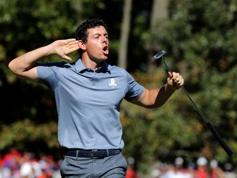 Ryder Cup 2016: Rory McIlroy calls out the crowd after incredible putt