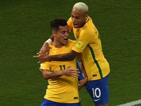 Liverpool duo Philippe Coutinho and Roberto Firmino both got on the scoresheet for Brazil