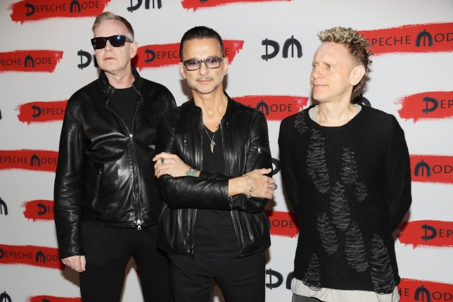 Depeche Mode attend a photocall to launch the Global Spirit Tour on October 11, 2016 in Milan, Italy (Picture: Getty Images)