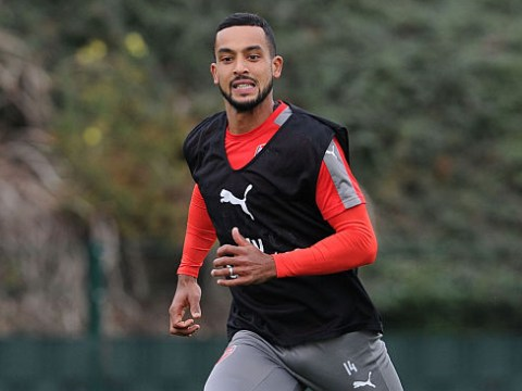 Theo Walcott trains alone as Arsenal prepare for Ludogorets clash