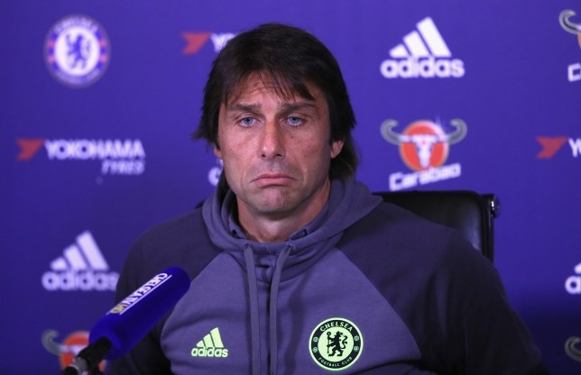 COBHAM, ENGLAND - OCTOBER 21: Antonio Conte, Chelsea mananger, is pictured during a press conference at Chelsea Training Ground on October 21, 2016 in Cobham, England. (Photo by Andrew Redington/Getty Images)