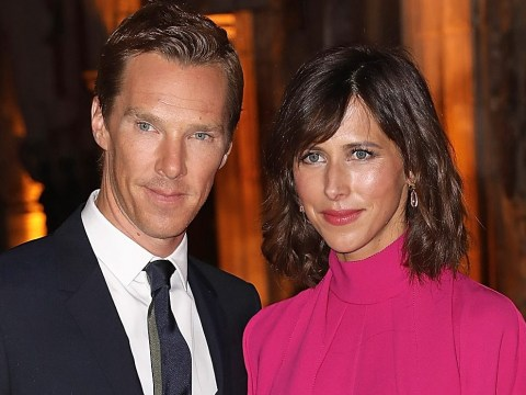Benedict Cumberbatch and wife Sophie Hunter showcase baby bump on Doctor Strange red carpet