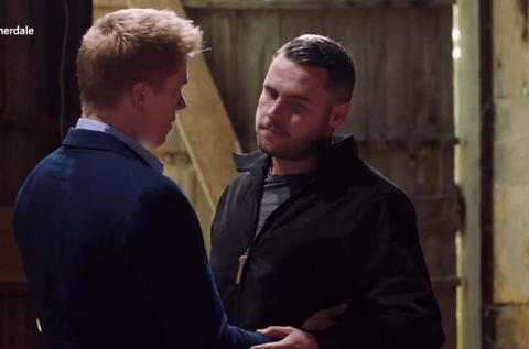 Emmerdale spoilers: Robert Sugden prepares to propose to Aaron Dingle tonight but disaster strikes