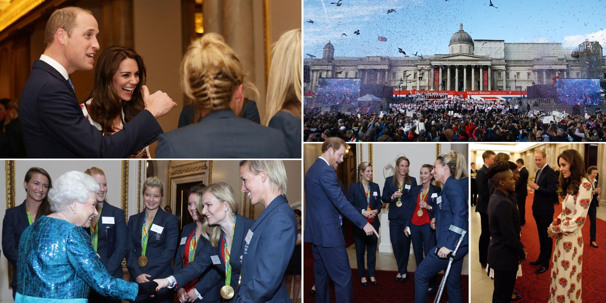 Prince William and Kate meet Team GB heroes at Olympic royal reception