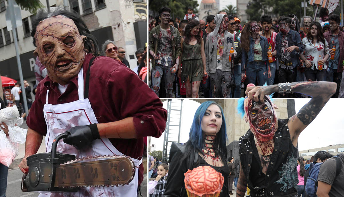 Blood-thirsty zombies take over Mexico City for charity… and brains