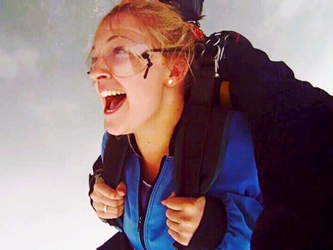 This woman broke her spine in two places while skydiving and is teaching herself to walk again