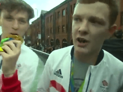 And the gold medal for blagging goes to…